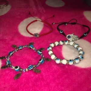 Jewelry - NEW‼️ FOUR EVIL EYE BRACELETS
